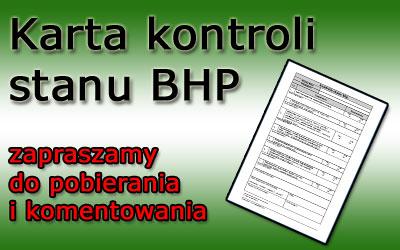 Karta kontroli stanu bhp